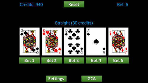Screenshot of WyeSoft Video Poker v1.0.3